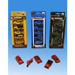 72 Units of 5 Pieces DIE CAST set in blister card assorted