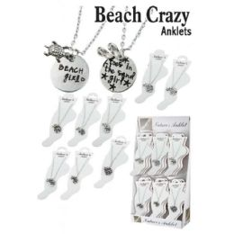 36 Units of BEACH CRAZY ANKLETS - Ankle Bracelets