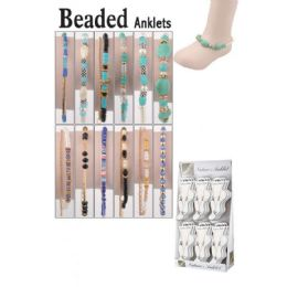 72 Units of BEADED ANKLETS - Ankle Bracelets
