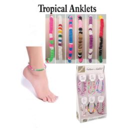 72 Units of TROPICALS ANKLETS - Ankle Bracelets