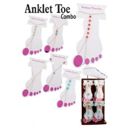 72 Units of TOE COMBO ANKLET - Ankle Bracelets
