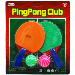 "48 Units of 5.5"" Mini Ping Pong Club Play Set In Blister Card - Summer Toys"