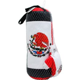 """20 Units of 20"""" Boxing Bag (mexico) W/ 9"""" Gloves In Pegable Net Bag - Sports Toys"""