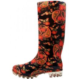 18 Units of Women's 13.5 Inches Water Proof Rubber Rain Boot - Women's Boots