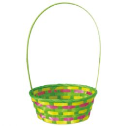 96 Units of Oval Basket With Handle Easter - Easter