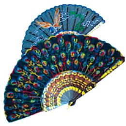 """36 Units of Chinese silk fan 10"""" - Home Decor"""
