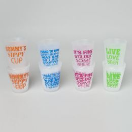 96 Units of Tumbler Plastic 3pk/14oz 4 Fun Drinking Themes Shrinkwrap W/summer Color Label - Plastic Drinkware