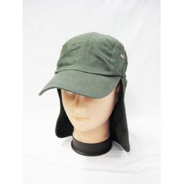24 Units of Mens Boonie / Hiking Cap Hat in Olive - Cowboy & Boonie Hat