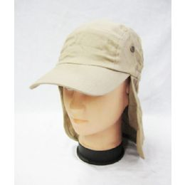24 Units of Mens Boonie / Hiking Cap Hat in Khaki - Cowboy & Boonie Hat