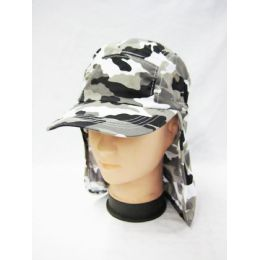 24 Units of Mens Boonie / Hiking Cap Hat in Camo Gray - Cowboy & Boonie Hat
