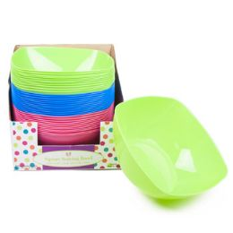72 Units of Serving Bowl Square - Plastic Bowls and Plates