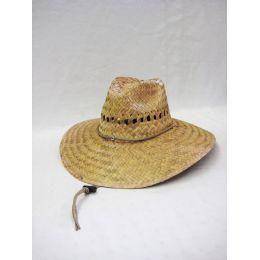 24 Units of Men's Straw Hat in Beige - Bucket Hats