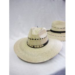 24 Units of Mens Straw High Quality Hat in Cream - Bucket Hats