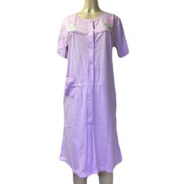 60 Units of Nines Ladys House Dress / Pajama Assorted Colors Size Medium - Women's Pajamas and Sleepwear