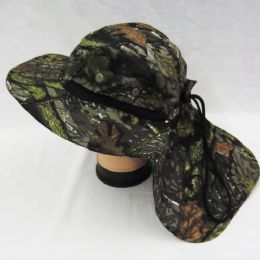 24 Units of Mens Boonie / Hiking Cap Hat in Camo - Bucket Hats