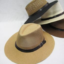24 Units of Mens Hat in Assorted Neutral Colors - Bucket Hats