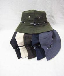 24 Units of Mens Bucket Hat in Assorted Colors - Bucket Hats