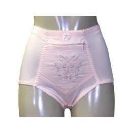 60 Units of Wakoii Ladys Nylon Girdle with Zippered Pocket - Womens Panties & Underwear