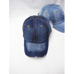 24 Units of Plain Denim Baseball Cap - Baseball Caps & Snap Backs