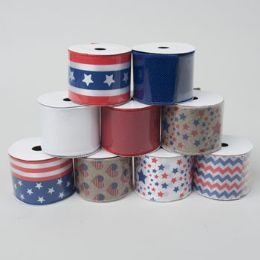 72 Units of Ribbon Wire Patriotic - Rope and Twine