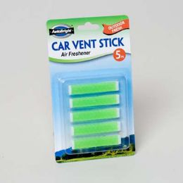 96 Units of Air Freshener Outdoor Fresh Car Vent Stick 5pk Carded - Air Fresheners
