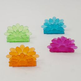 72 Units of Napkin Holders Flower Shape - Napkin and Paper Towel Holders