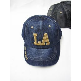36 Units of La Denim Kids Cap - Kids Baseball Caps
