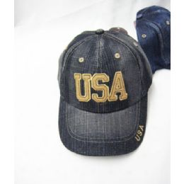 36 Units of Usa Denim Kids Cap - Kids Baseball Caps