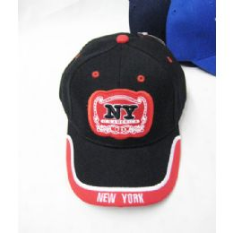 "36 Units of ""new York"" Kids Cap - Kids Baseball Caps"