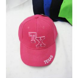 "36 Units of Kid's ""texas"" Base Ball Cap - Kids Baseball Caps"