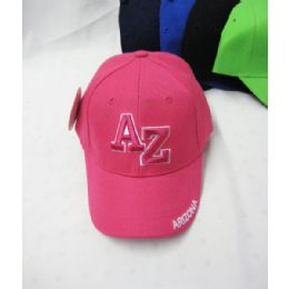 "36 Units of ""arizona"" Kids Cap Assorted Colors - Kids Baseball Caps"
