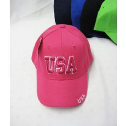 "36 Units of Kid's ""usa"" Base Ball Cap - Kids Baseball Caps"