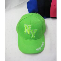"36 Units of Kid's ""'new York"" Base Ball Cap - Kids Baseball Caps"