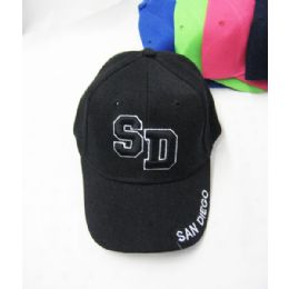 "36 Units of Kid's ""san Diego"" Base Ball Cap - Kids Baseball Caps"