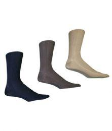216 Units of Men's Nylon Dress Sock In Assorted Colors - Mens Dress Sock