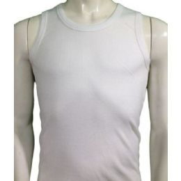 36 Units of Boys Tank Top Sizes 4-6 In White - Boys T Shirts