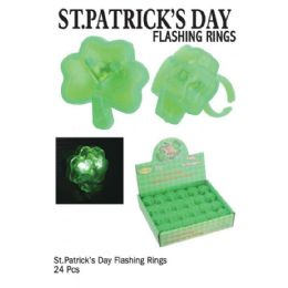 24 Units of ST. PATRICKS DAY FLASH RINGS - St. Patricks
