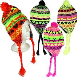 72 Units of Knit Arctic Chullo Hats - Winter Hats