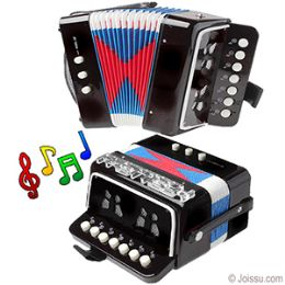 12 Units of Junior Accordion Musical Instrument - Black - Musical