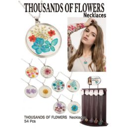 54 Units of FLOWERS NECKLACES - Necklace