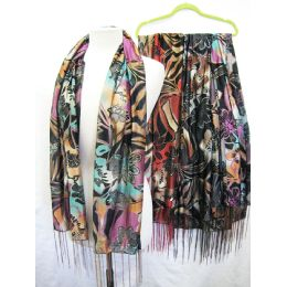 36 Units of Printed Scarves - Womens Fashion Scarves
