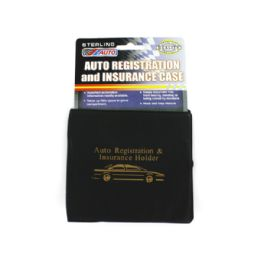 72 Units of Sterling Brand Black Auto Registration & Insurance Case - Auto Accessories