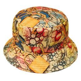 12 Units of Treasure Print Bucket Hats - Bucket Hats