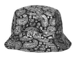 12 Units of Paisley Print Reversible Bucket Hats - Bucket Hats