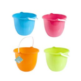 36 Units of Bucket W/handle Bright Colors - Buckets & Basins