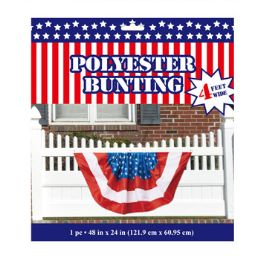 24 Units of Bunting Patriotic Polyester - 4th Of July