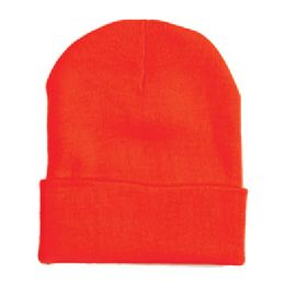 "60 Units of 12"" LONG SKI BEANIE IN RED - Winter Beanie Hats"