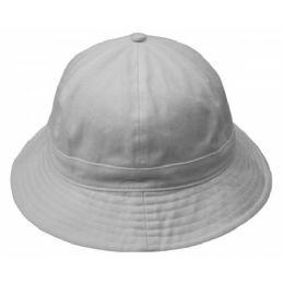 24 Units of Cotton Round Bucket Hats - Bucket Hats