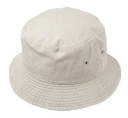 12 Units of Plain Cotton Bucket Hats In Stone - Bucket Hats