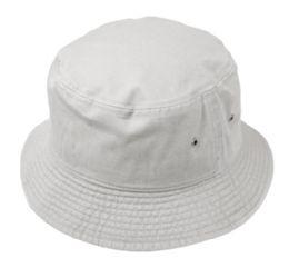 12 Units of Plain Cotton Bucket Hats In Light Gray - Bucket Hats